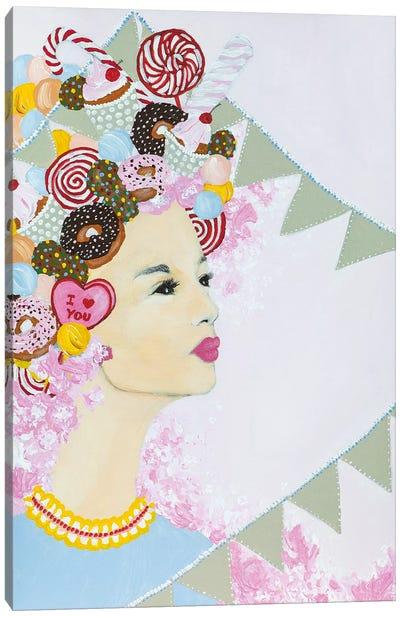 Lady Sweet Overdose Canvas Art Print