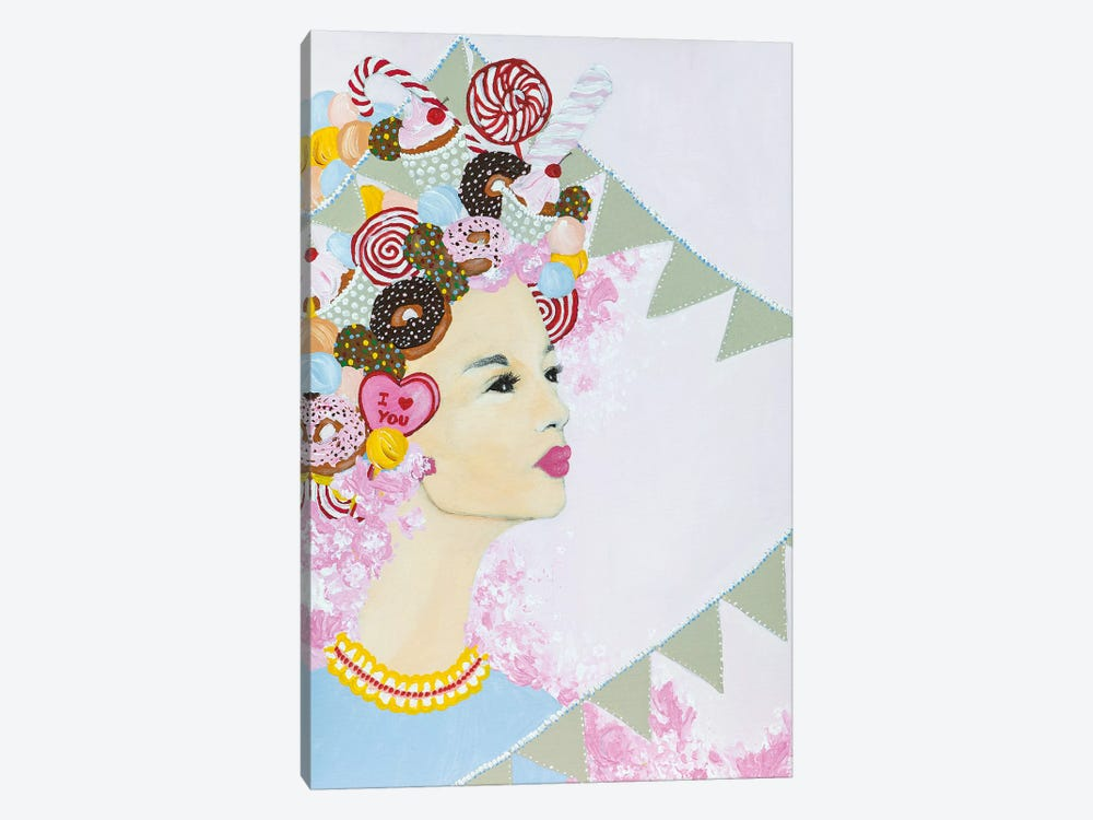 Lady Sweet Overdose by Piia Pievilainen 1-piece Canvas Wall Art