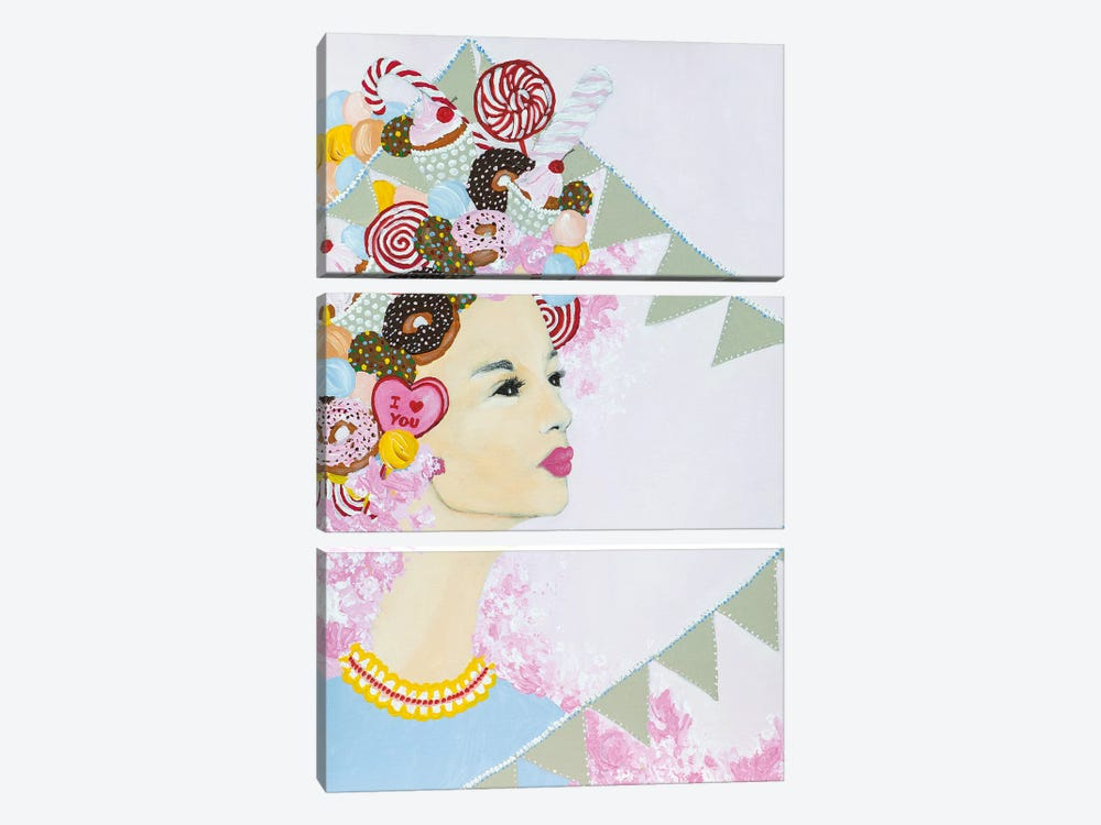 Lady Sweet Overdose by Piia Pievilainen 3-piece Canvas Art