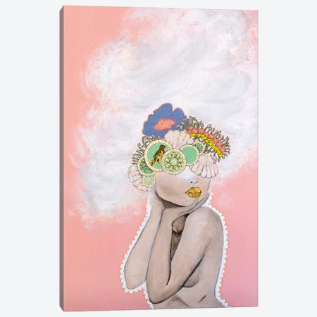 Lady Whimsical Canvas Print #PII35} by Piia Pievilainen Canvas Wall Art