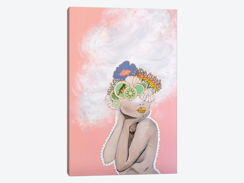 Lady Whimsical by Piia Pievilainen 1-piece Canvas Print