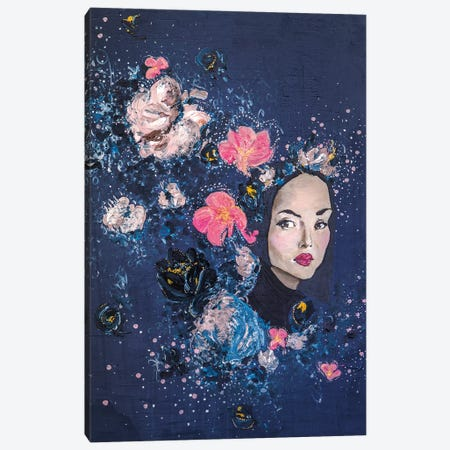 Lady Garland Canvas Print #PII36} by Piia Pievilainen Canvas Art