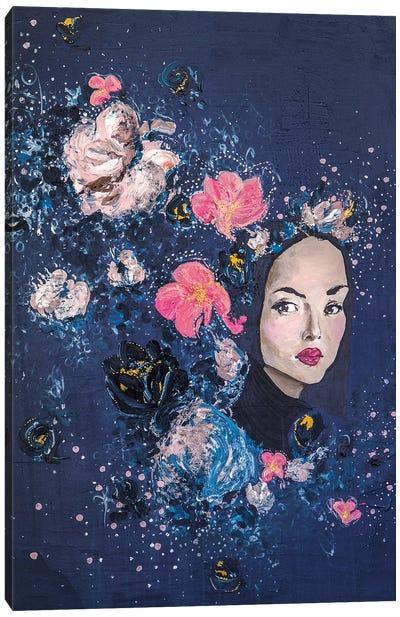 Lady Garland Canvas Art Print