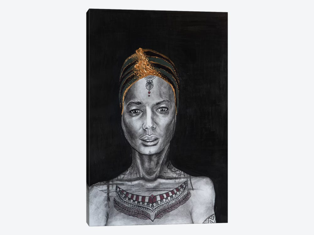 Lady Enigma by Piia Pievilainen 1-piece Canvas Print