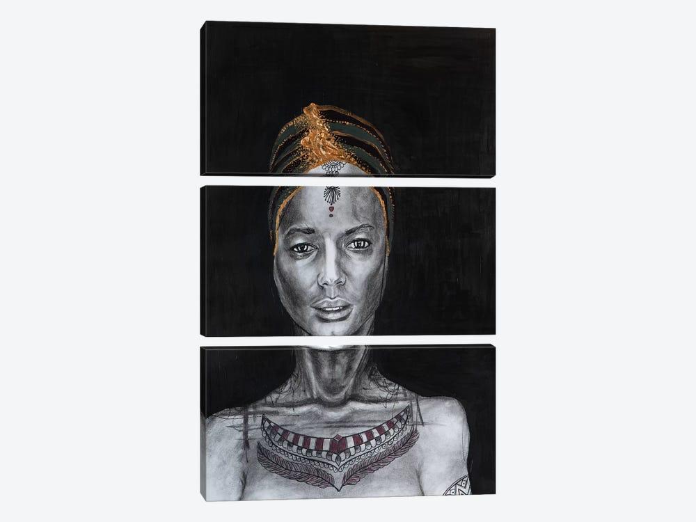 Lady Enigma by Piia Pievilainen 3-piece Art Print
