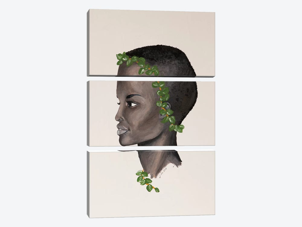 Lady Eucalyptus by Piia Pievilainen 3-piece Canvas Art