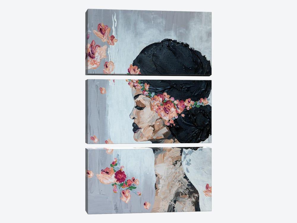 Lady Flora by Piia Pievilainen 3-piece Art Print