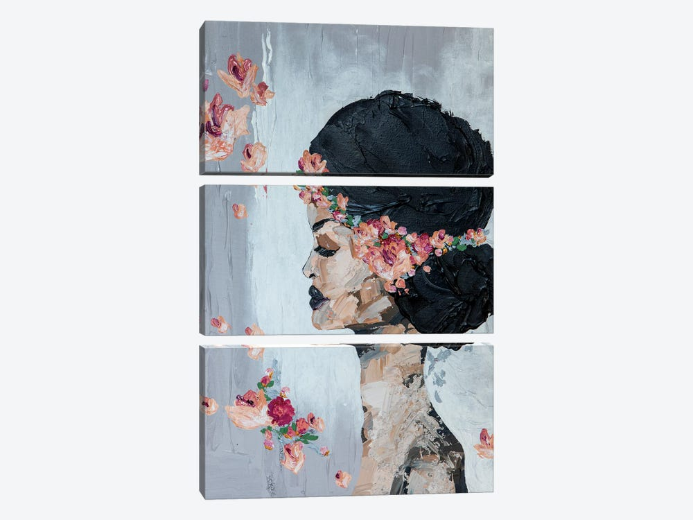 Lady Flora by Piia Pievilainen 3-piece Art Print