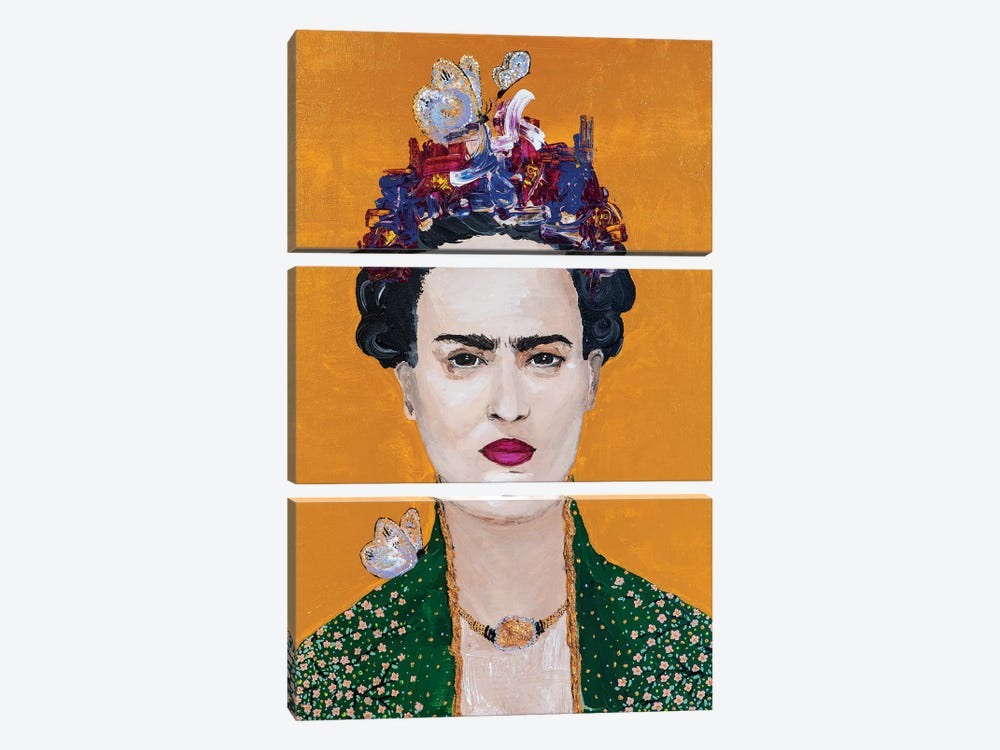 Lady Frida by Piia Pievilainen 3-piece Canvas Artwork