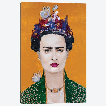 Lady Frida Canvas Print #PII6} by Piia Pievilainen Art Print