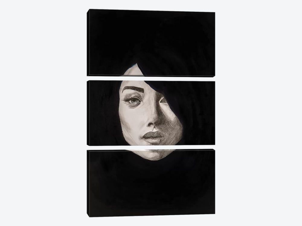 Lady Maverick by Piia Pievilainen 3-piece Canvas Artwork