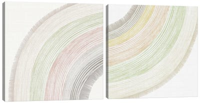 Little Rainbow Diptych Canvas Art Print