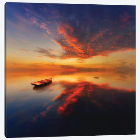 In A Colorful Evening 3-Piece Canvas #PIK9} by Piotr Krol Canvas Art