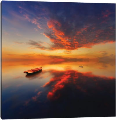 In A Colorful Evening Canvas Art Print