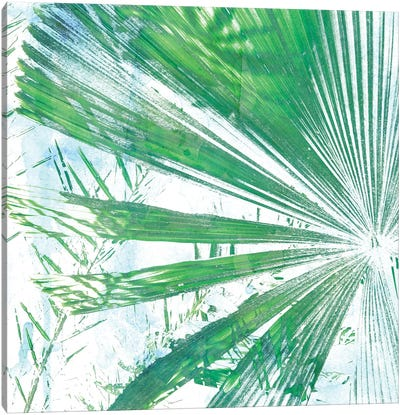 Emerald Palms I Canvas Art Print