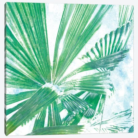 Emerald Palms II 3-Piece Canvas #PIL2} by Pam Ilosky Canvas Print