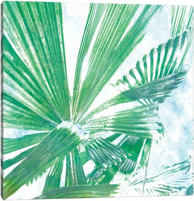 Emerald Palms II Canvas Art Print