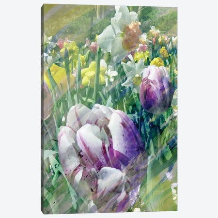 Spring At Giverny I 3-Piece Canvas #PIL3} by Pam Ilosky Canvas Print