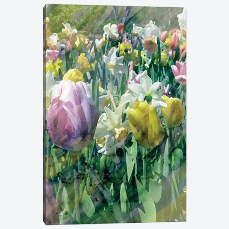 Spring At Giverny II 3-Piece Canvas #PIL4} by Pam Ilosky Canvas Artwork