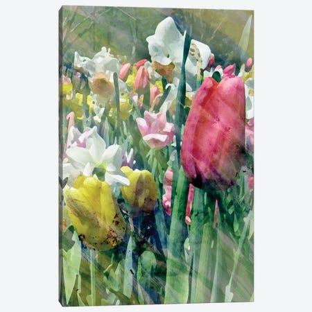 Spring At Giverny III 3-Piece Canvas #PIL5} by Pam Ilosky Canvas Art
