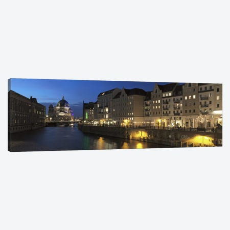 Berlin Cathedral and Nikolaiviertel at Spree River, Berlin, Germany Canvas Print #PIM10002} by Panoramic Images Canvas Wall Art
