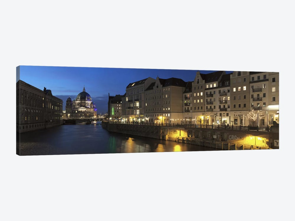 Berlin Cathedral and Nikolaiviertel at Spree River, Berlin, Germany by Panoramic Images 1-piece Canvas Artwork