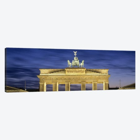 Quadriga statue on Brandenburg Gate, Pariser Platz, Berlin, Germany Canvas Print #PIM10003} by Panoramic Images Canvas Wall Art