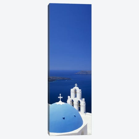 High angle view of a church, Firostefani, Santorini, Cyclades Islands, Greece Canvas Print #PIM10012} by Panoramic Images Canvas Print