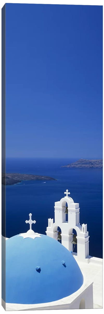 High angle view of a church, Firostefani, Santorini, Cyclades Islands, Greece Canvas Art Print