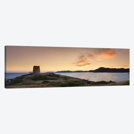 Tower at the seaside, Saracen Tower, Costa del Sud, Sulcis, Sardinia, Italy Canvas Print #PIM10024} by Panoramic Images Canvas Print