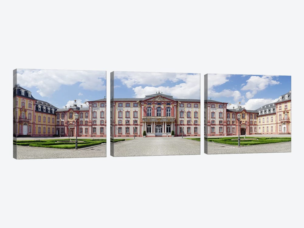 Facade of a castle, Castle Bruchsal, Bruchsal, Baden-Wurttemberg, Germany by Panoramic Images 3-piece Canvas Wall Art