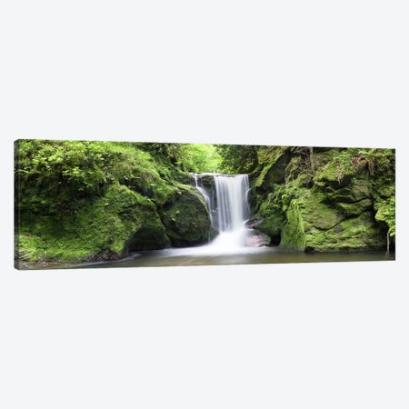 Geroldsau Waterfall, Black Forest, Baden-Wurttemberg, Germany Canvas Print #PIM10027} by Panoramic Images Art Print