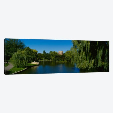 Lake in a formal garden, Boston Public Garden, Boston, Massachusetts, USA Canvas Print #PIM1002} by Panoramic Images Art Print