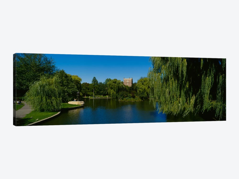 Lake in a formal garden, Boston Public Garden, Boston, Massachusetts, USA by Panoramic Images 1-piece Canvas Artwork