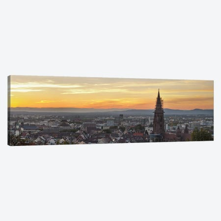 Tower of a cathedral, Freiburg Munster, Baden-Wurttemberg, Germany Canvas Print #PIM10041} by Panoramic Images Canvas Wall Art