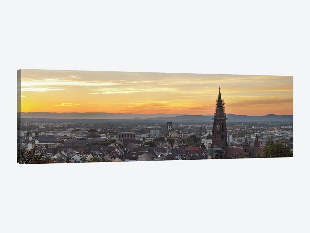 Tower of a cathedral, Freiburg Munster, Baden-Wurttemberg, Germany by Panoramic Images 1-piece Canvas Print