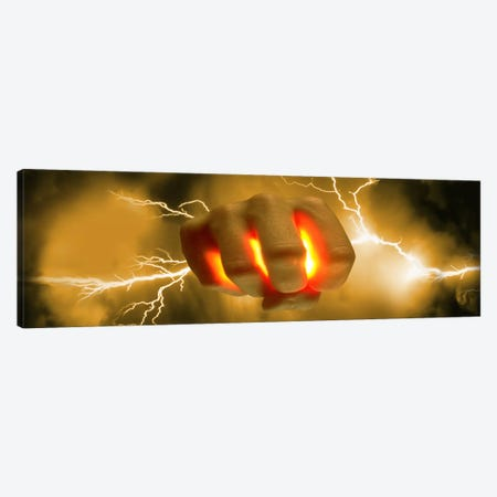 Lightning coming out of hand 3-Piece Canvas #PIM10044} by Panoramic Images Art Print