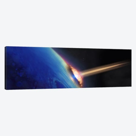 Comet crashing into earth Canvas Print #PIM10049} by Panoramic Images Canvas Wall Art