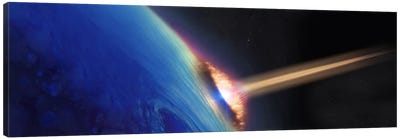 Comet crashing into earth Canvas Art Print