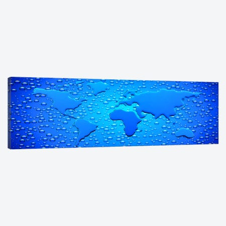 Water drops forming continents Canvas Print #PIM10050} by Panoramic Images Canvas Art Print