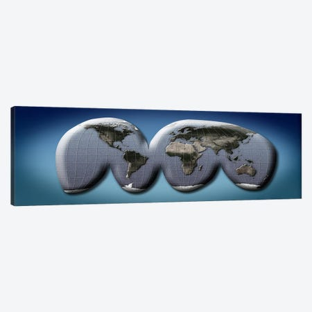 Map of world from Goode's homolosine projection Canvas Print #PIM10056} by Panoramic Images Canvas Art