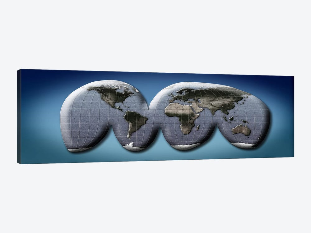 Map of world from Goode's homolosine projection by Panoramic Images 1-piece Art Print