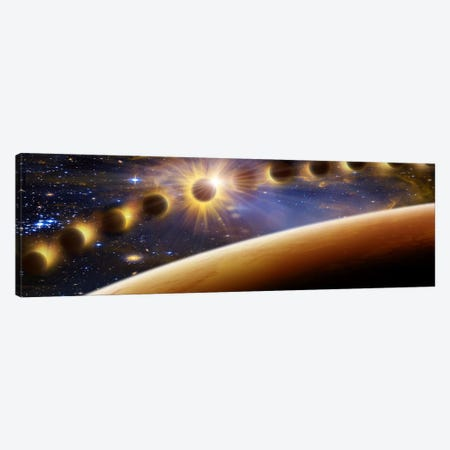 Eclipse of the sun Canvas Print #PIM10058} by Panoramic Images Canvas Art Print