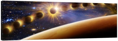 Eclipse of the sun Canvas Art Print