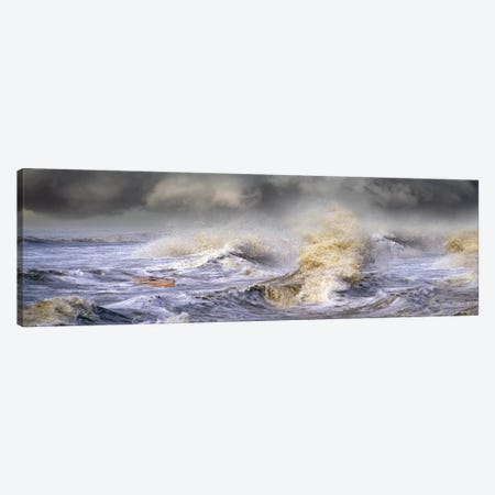 Small boat in storm Canvas Print #PIM10059} by Panoramic Images Canvas Print