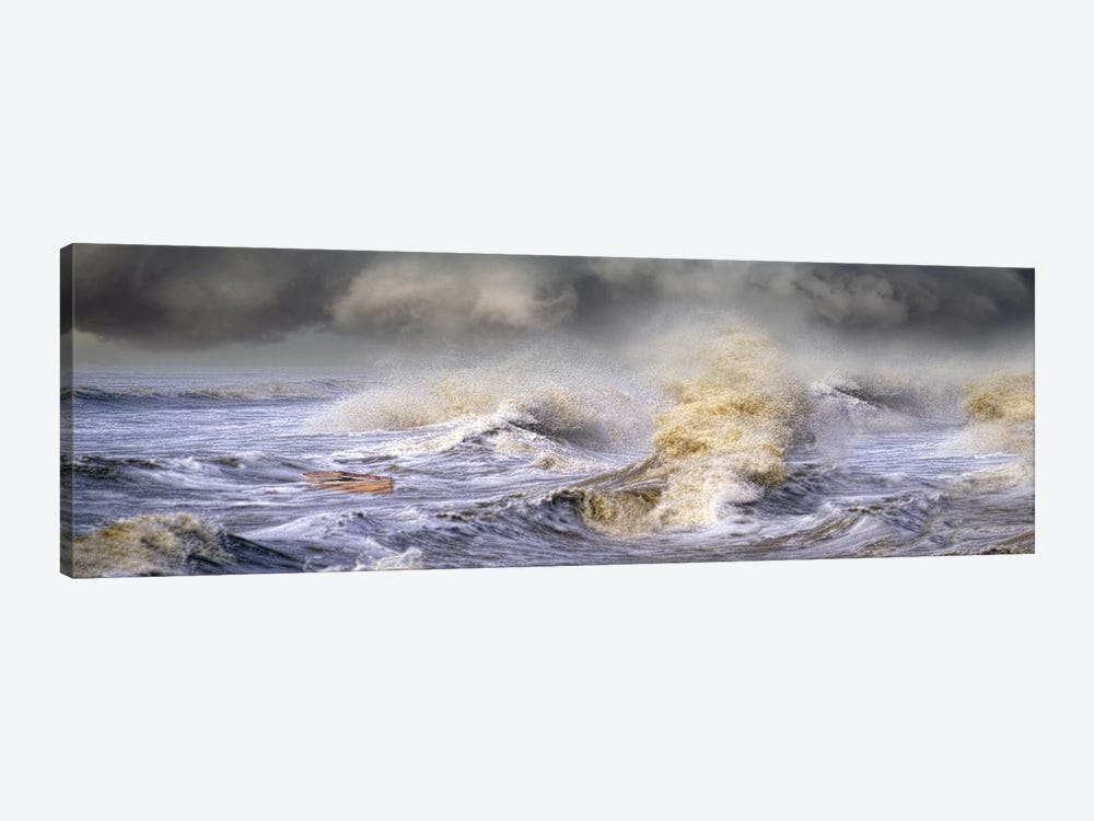 Small boat in storm by Panoramic Images 1-piece Canvas Art