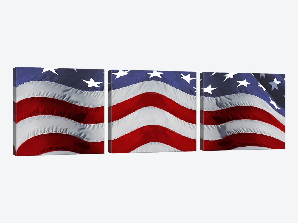 Close-up of an American flag by Panoramic Images 3-piece Canvas Art