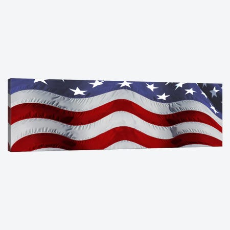 Close-up of an American flag Canvas Print #PIM10060} by Panoramic Images Canvas Artwork