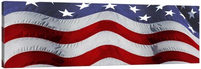 Close-up of an American flag Canvas Art Print