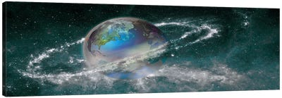 Earth in star field Canvas Print #PIM10062